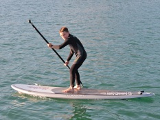 Travis on the SUP