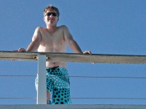 Mike on the top deck