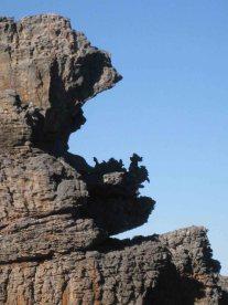 A strange rock