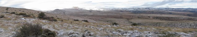 Snow covered hills at Mtn Zebra National Park