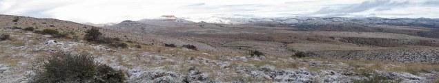 Snow covered hills at Mtn Zebra National Park