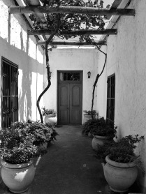 A courtyard at Beaumont