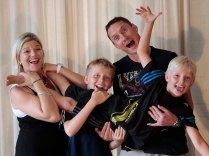 David and family having fun