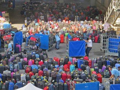 Luggage at disembarkation