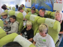 On the flight to Mauritius