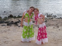 Sega dancers, Lexie and Robyn