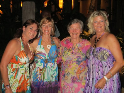Nicky, Gilly, Renee and Tans