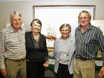 Bucky, Mags, Renee and Thys with the winning painting