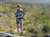 Jamie with a stick