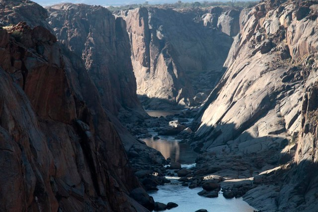 The Orange river canyon downstream of the falls