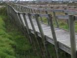 Collapsing boardwalk at Rietvlei
