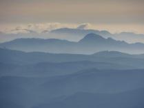 Hazy vista