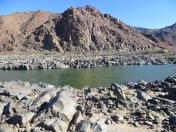 Bare rock cut by the Orange river
