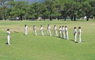 Catching practice with Jamie batting