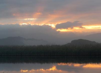Sunrise at Kleinmond lagoon