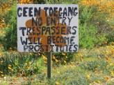 A sign near Skilpad!
