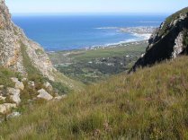 Looking down to Betty's Bay
