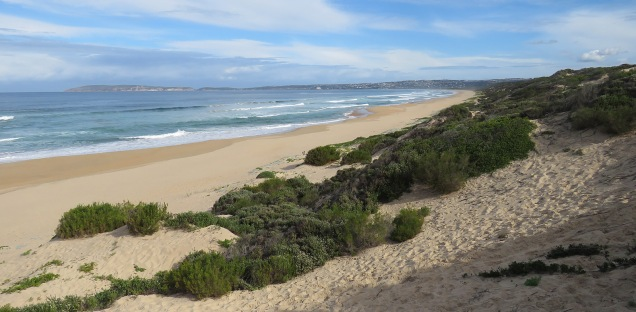 View from The Dunes to Robberg peninsula