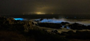 The lights of Gansbaai from Kwaaiwater