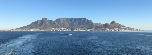 Table Mountain as we departed