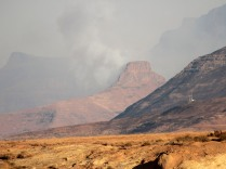 A fire in the Drakensberg