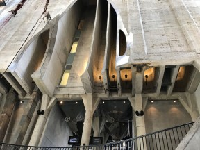 Carved concrete silos