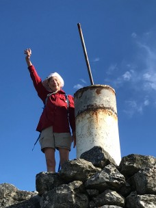 Audrey at the summit