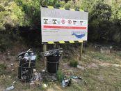 Litter near the dams