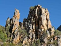 Fabulous rock formations abounded