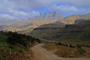 Work on the Sani Pass