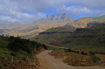 Work on the Sani Pass
