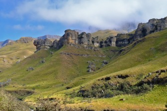 Looking up towards Lesotho