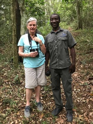 Renee and Abednigo at Ngoye Forest