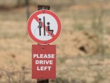 A most unusual road sign near Windhoek