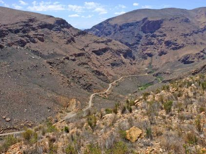 Looking north on the Swartberg Pass